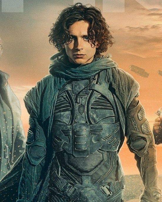 Timothee Chalemet as Paul Atriedes in Denis Villeneuve's upcoming feature film Dune